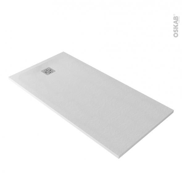 receveur de douche extra plat bali r sine rectangulaire 160x80 cm blanc oskab. Black Bedroom Furniture Sets. Home Design Ideas