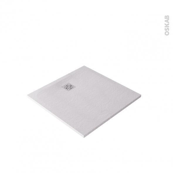 Receveur de douche extra-plat BALI - Résine - Carré 90x90cm - Blanc