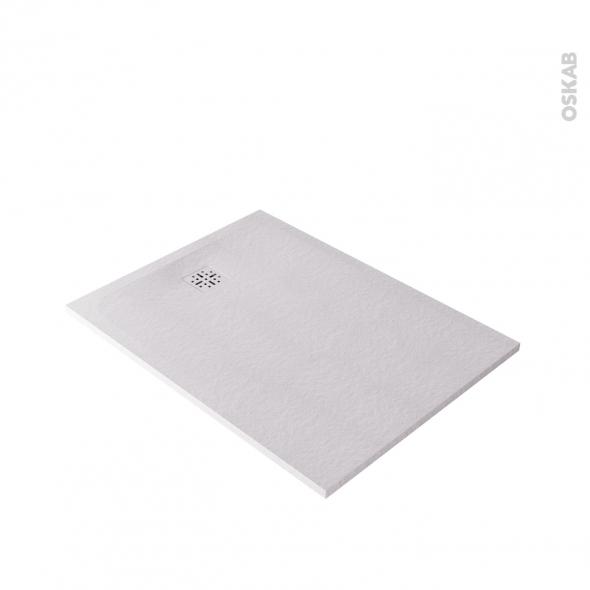 Receveur de douche - Extra-plat BALI - Résine - Rectangulaire 120x90 cm - Blanc