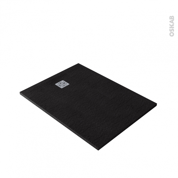 Receveur de douche extra-plat BALI - Résine - Rectangulaire 120x90cm - Noir