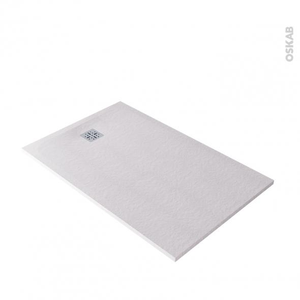 Receveur de douche - Extra-plat BALI - Résine - Rectangulaire 140x90 cm - Blanc