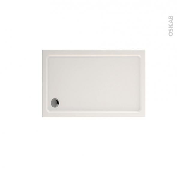 receveur de douche musa acrylique rectangulaire 120x80 cm blanc oskab. Black Bedroom Furniture Sets. Home Design Ideas