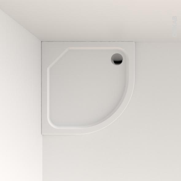receveur de douche musa acrylique renforc 1 4 de cercle. Black Bedroom Furniture Sets. Home Design Ideas