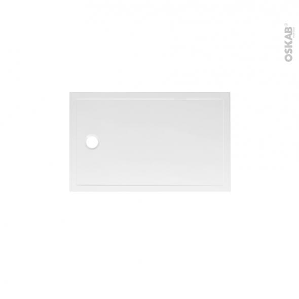 receveur de douche extra plat pao ceramique rectangulaire 100x80 cm blanc