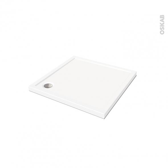 Receveur de douche SAMOA - Acrylique - Carré 80x80cm - Blanc