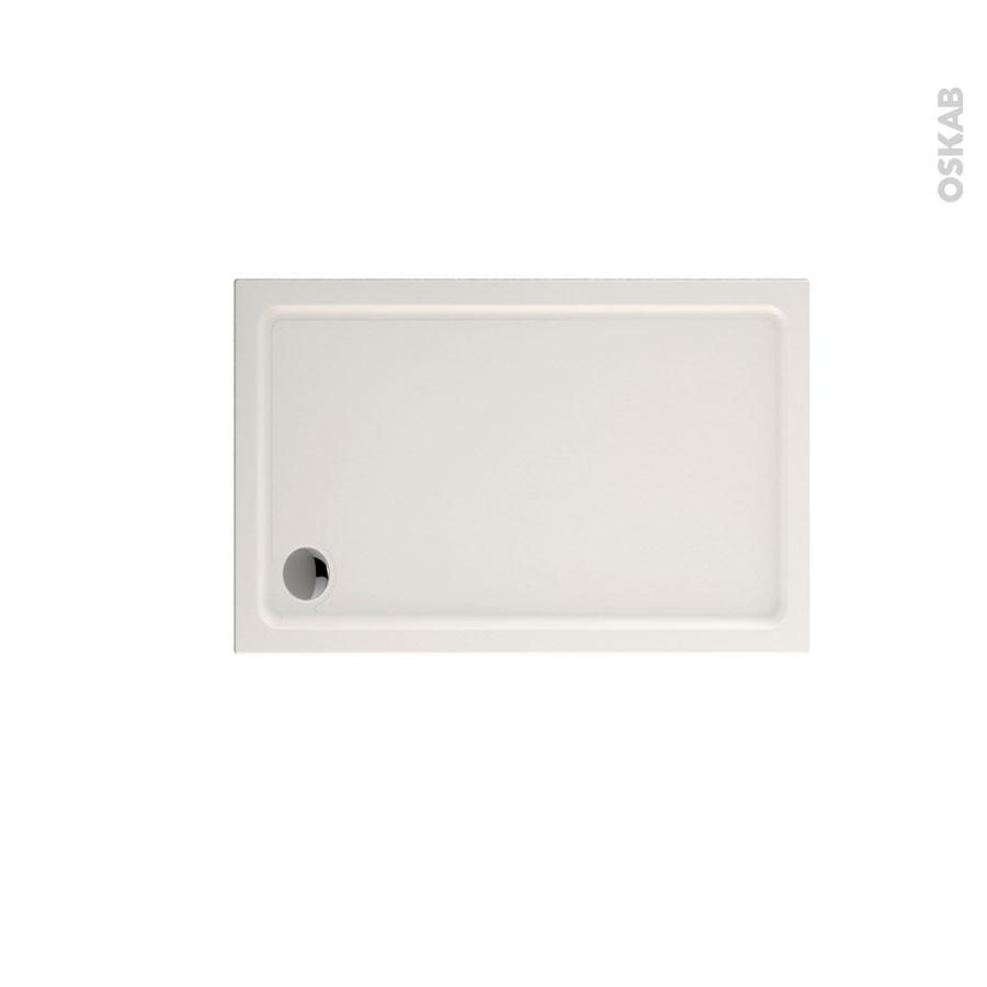 receveur de douche musa acrylique renforc rectangulaire 120x80 cm blanc oskab. Black Bedroom Furniture Sets. Home Design Ideas