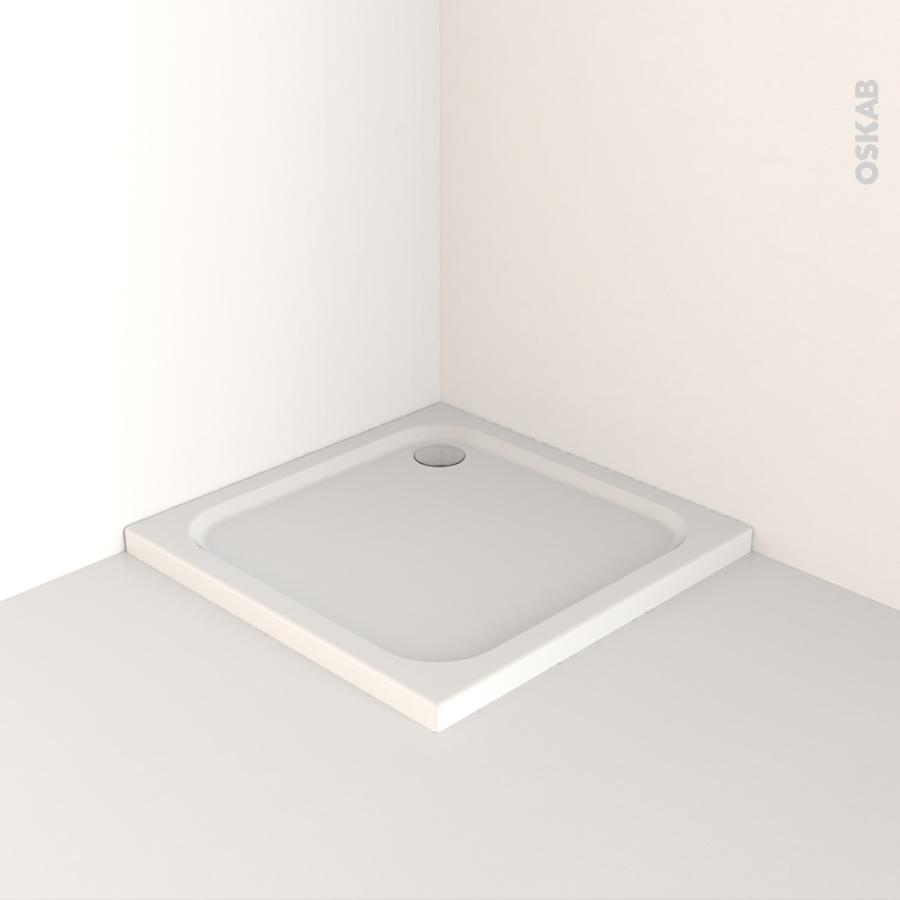 receveur de douche musa acrylique renforc carr 90x90 cm blanc oskab. Black Bedroom Furniture Sets. Home Design Ideas