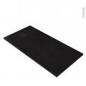 Receveur de douche - Extra-plat CUBA - Résine - Rectangulaire 160x90 cm - Noir