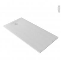 Receveur de douche - Extra-plat CUBA - Résine - Rectangulaire 160x90 cm - Blanc