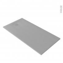 Receveur de douche - Extra-plat CUBA - Résine - Rectangulaire 160x90 cm - Gris