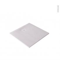 Receveur de douche - Extra-plat CUBA - Résine - Carré 90x90 cm - Blanc