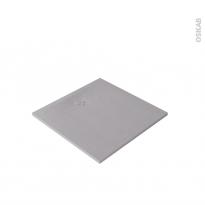 Receveur de douche - Extra-plat CUBA - Résine - Carré 90x90 cm - Gris