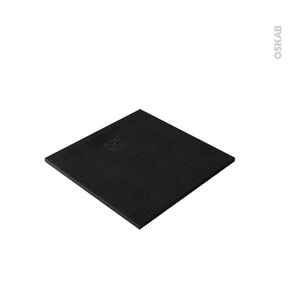 Receveur de douche - Extra-plat CUBA - Résine - Carré 90x90 cm - Noir