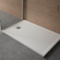 Receveur de douche - Extra-plat FIDJI - Résine - Rectangulaire 100x80 cm - Blanc