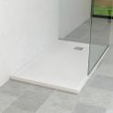 Receveur de douche - Extra-plat FIDJI - Résine - Rectangulaire 140x80 cm - Blanc