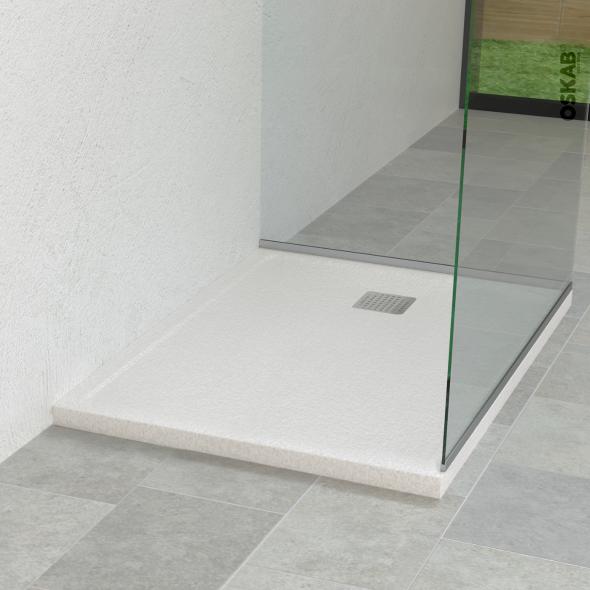 Receveur de douche - Extra-plat FIDJI - Résine - Carré 80x80 cm - Blanc