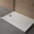 #Receveur de douche - Extra-plat FIDJI - Résine - Rectangulaire 100x80 cm - Blanc