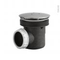 Bonde receveur de douche - Capot métal chromé - Diam. 60 - VALENTIN
