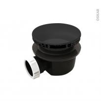 Bonde receveur de douche - Extra-plate - Sortie horizontale - Capot ABS noir mat - Diam. 90 - VALENTIN