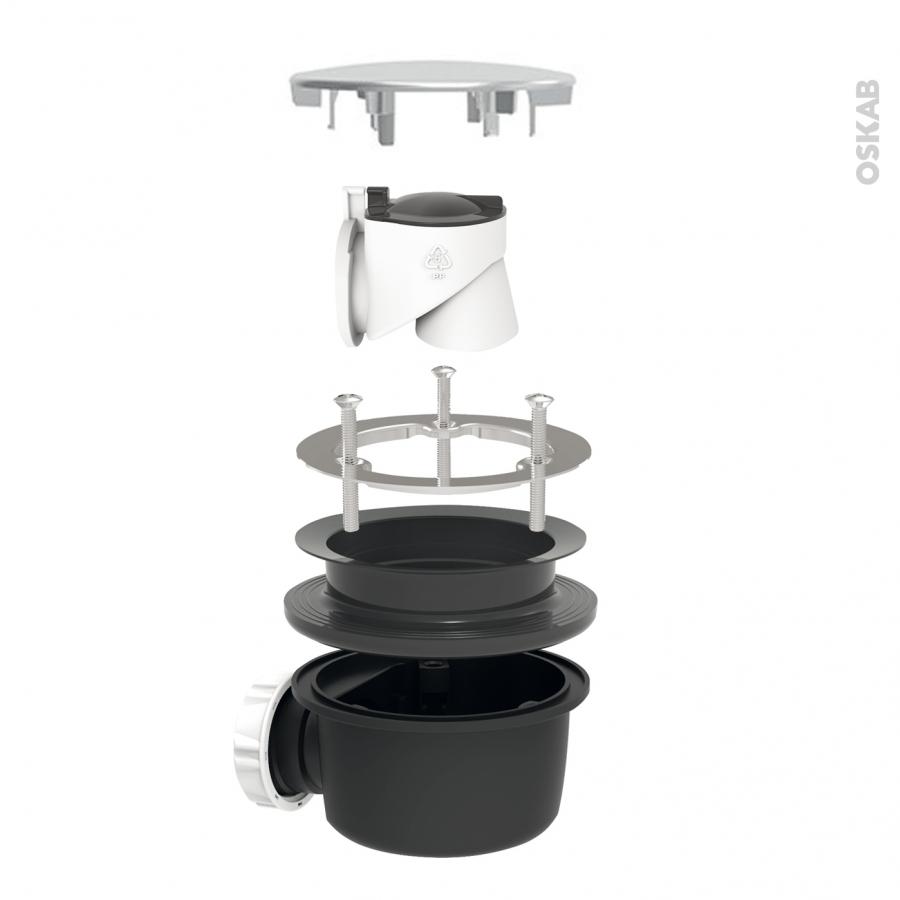 bonde receveur de douche extra plate capot abs chrom diam 90 valentin oskab. Black Bedroom Furniture Sets. Home Design Ideas