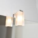 Eclairage de salle de bains - Halogène LUG - L3,5 x H9 x P9,5 cm