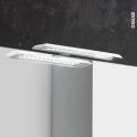 Eclairage de salle de bains - LED Jade - finition blanche - L30 x H1,4 x P16,1 cm