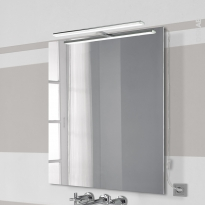 Eclairage de salle de bains - LED Calypso 2 avec prise électrique - L45 x H1,5 x P11,2 cm