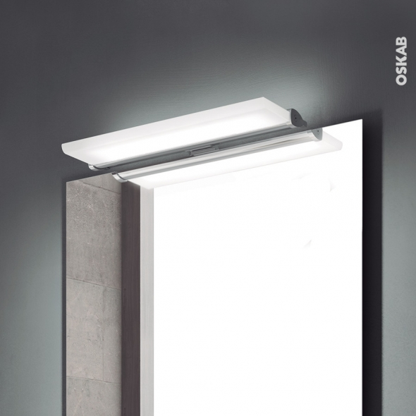 Eclairage de salle de bains - LED Hydra - L30 x H1 x P13,9 cm