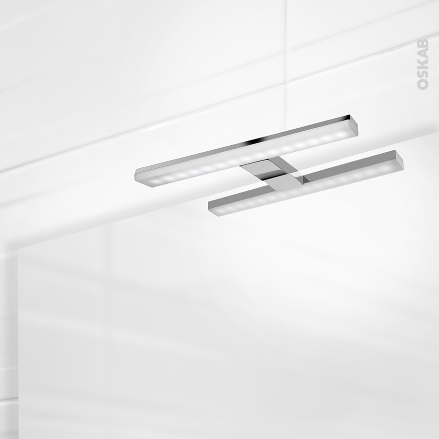 eclairage de salle de bains led calypso l30 x h1 5 x p11 2 cm oskab. Black Bedroom Furniture Sets. Home Design Ideas