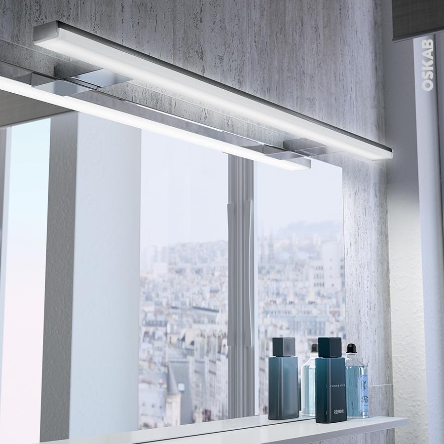 Eclairage de salle de bains led calypso l80cm l80 x h1 5 x Eclairage led salle de bain