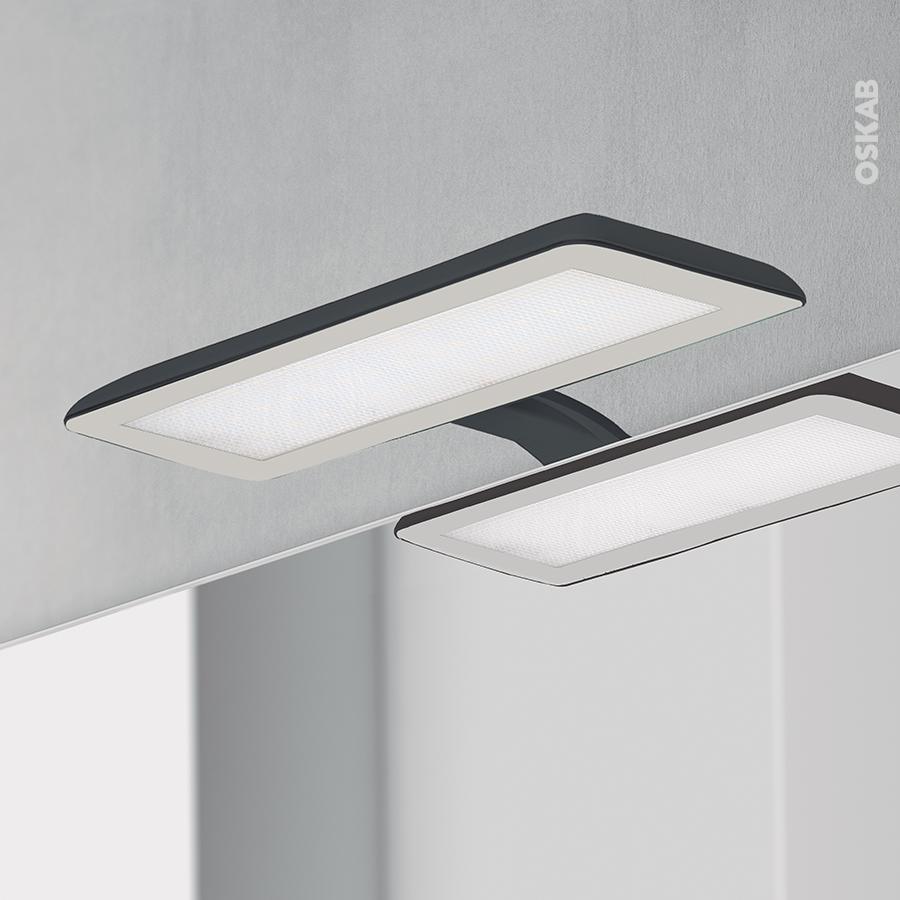 Eclairage Sous Meuble Cuisine Sans Interrupteur eclairage de salle de bains led jade finition noire, l30 x h1,4 x p16,1 cm