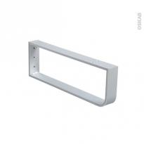 Console porte serviettes - Murale gris aluminium - L45 x H15 cm - HAKEO