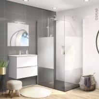 Salle de bains complète - Ensemble meuble GINKO Blanc + Douche à l'italienne