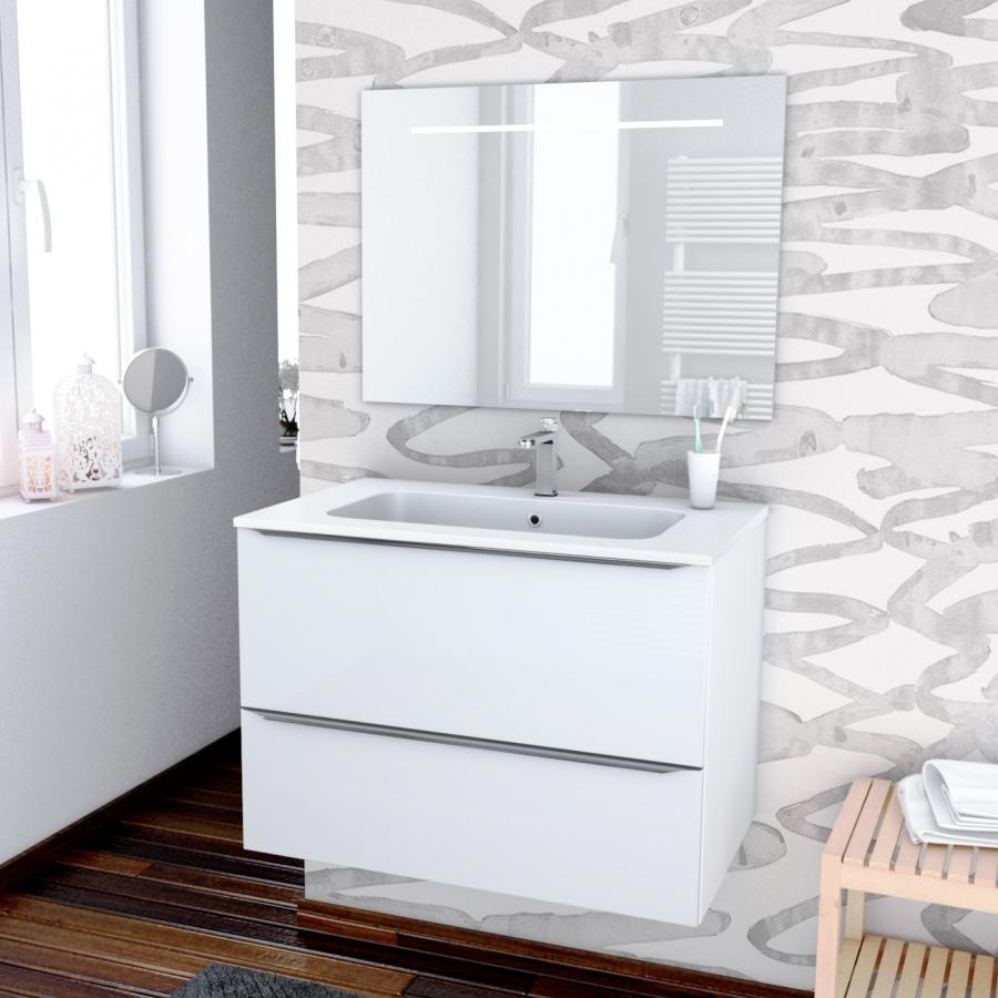 ensemble salle de bains meuble bora blanc plan vasque
