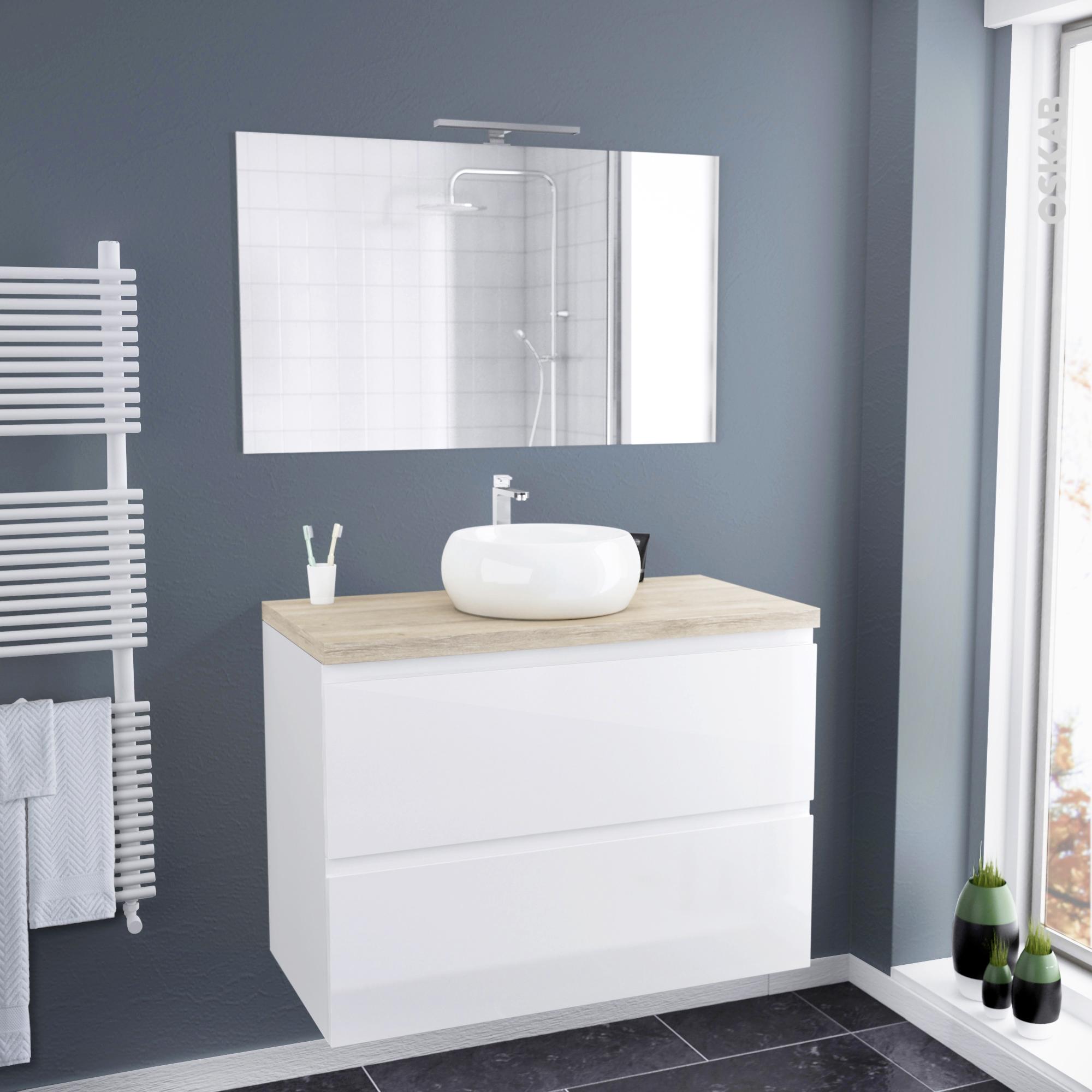 ensemble salle de bains meuble ipoma blanc plan de toilette hosta