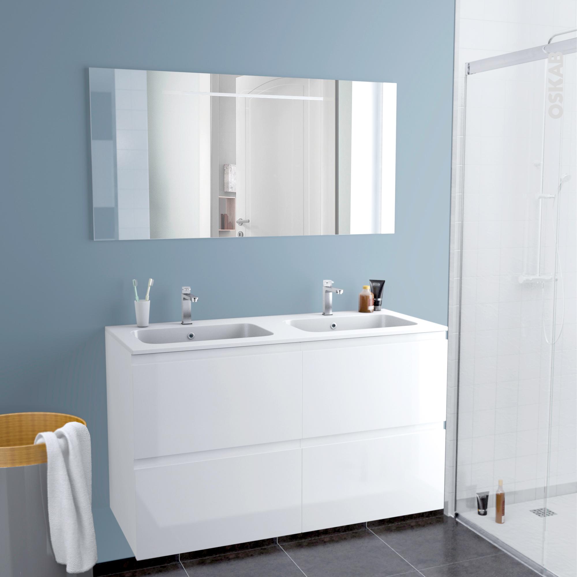 5 beau meuble salle de bain double vasque 140 cm image for Ensemble salle de bain double vasque