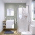 #Meuble de salle de bains - Plan vasque REZO - IPOMA Blanc mat - 2 tiroirs - Côtés décors - L60,5 x H58,5 x P40,5 cm