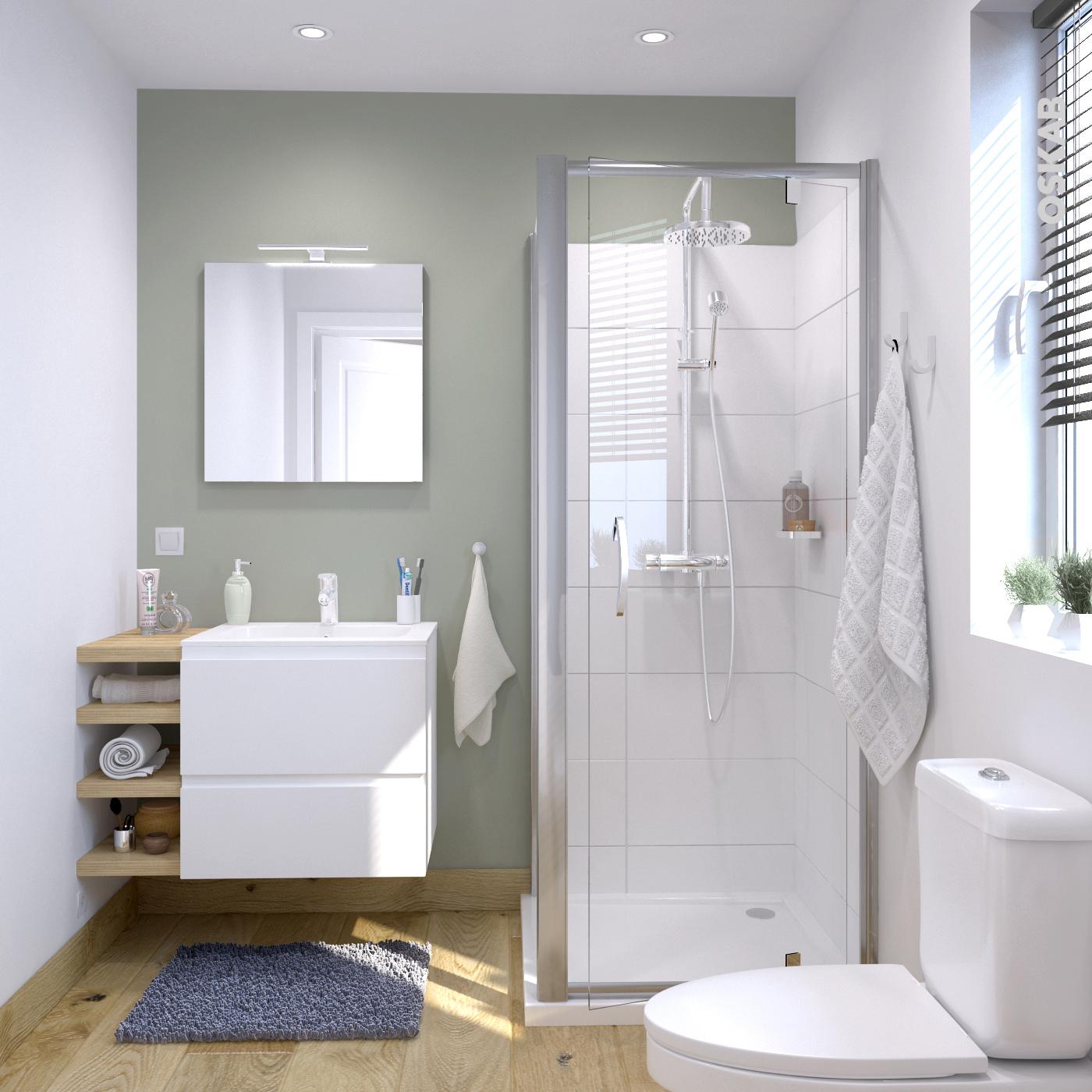 Salle De Bain Blanche ~ ensemble salle de bains meuble ipoma blanc mat plan vasque r sine