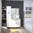 #Meuble de salle de bains - Sous vasque - STATIC Blanc - 2 tiroirs - Côtés décors - L60 x H70 x P40 cm
