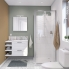 #Ensemble salle de bains - Meuble STATIC Blanc - Plan vasque résine - Miroir et éclairage - L60,5 x H58,5 x P40,5 cm