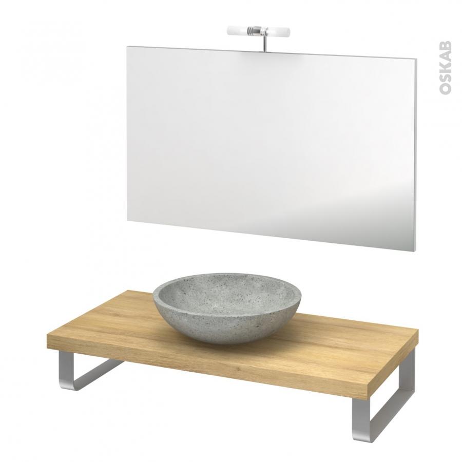 Vasque a poser gris vasque galet riviere evier lavabo - Vasque cuisine a poser ...