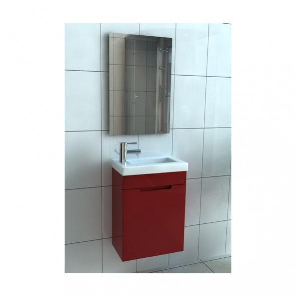 Meuble salle de bain suspendu lave mains l40xh58xp22 alba - Meuble salle de bain pour lave linge ...