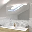 Miroir de salle de bains - Lumineux - KIO - L120 x H70 cm