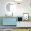 Miroir de salle de bains - Lumineux - MARA - Diamètre 75 cm