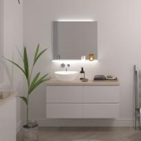 Miroir de salle de bains - Lumineux - ISI - L80 x H80 cm