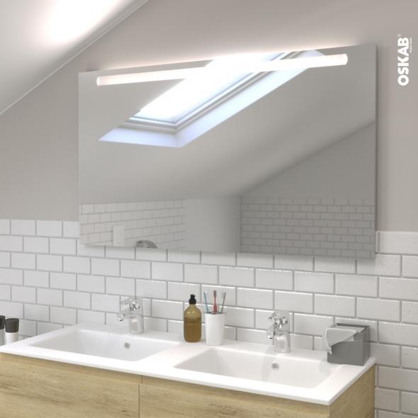 Miroir de salle de bains Lumineux KIO L120 x H70 cm - Oskab