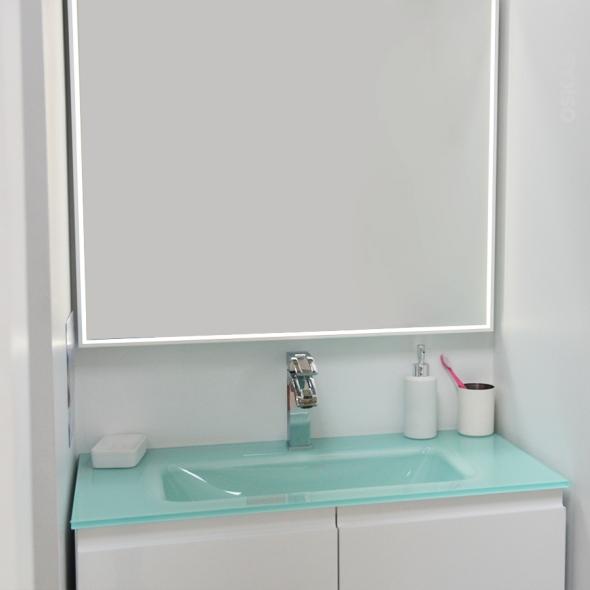 Miroir salle de bains  Mila - Rétro éclairé - L80xH70