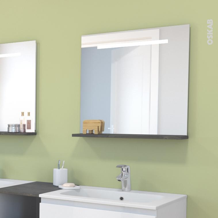 Miroir de salle de bains lumineux spiel l60 x h60 cm oskab - Miroir de salle de bain lumineux ...