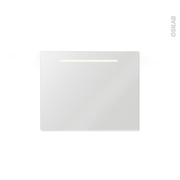 Miroir de salle de bains lumineux spiel l80 x h60 cm oskab for Miroir salle de bain 90 x 80