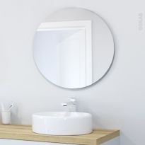 Miroir salle de bains Miral - Simple - Diamètre 80